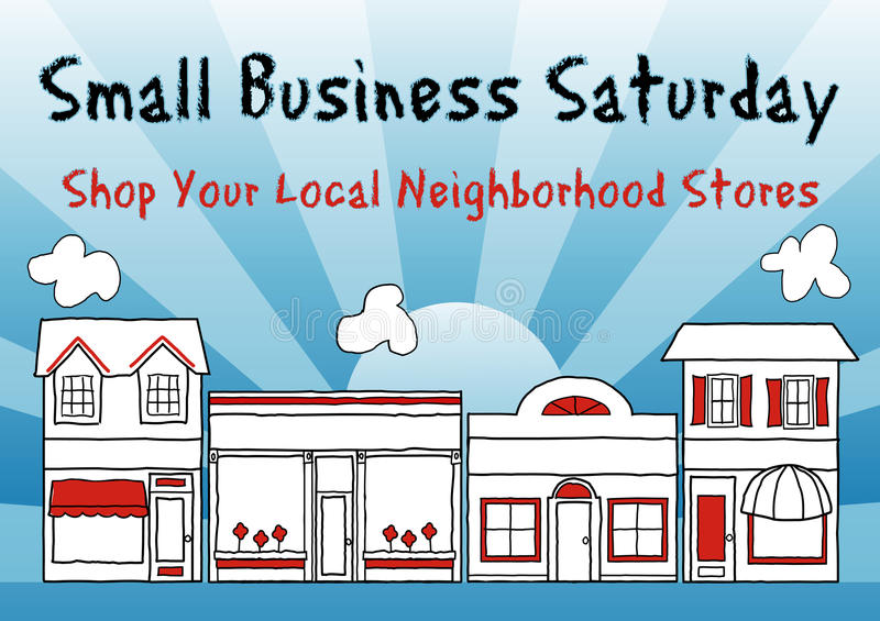 Small Business Saturday. Encourages shopping at small and local neighborhood stores. An American promotion held on the Saturday after Thanksgiving. EPS8 stock illustration