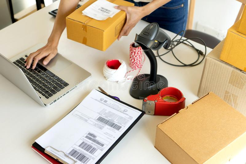 Small business Worker  delivery royalty free stock images