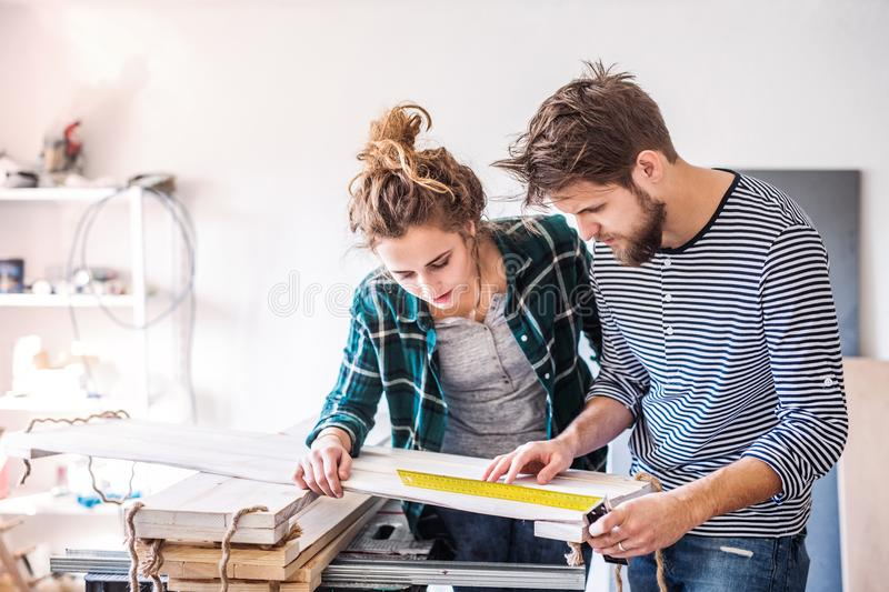 Small business of a young couple. stock image