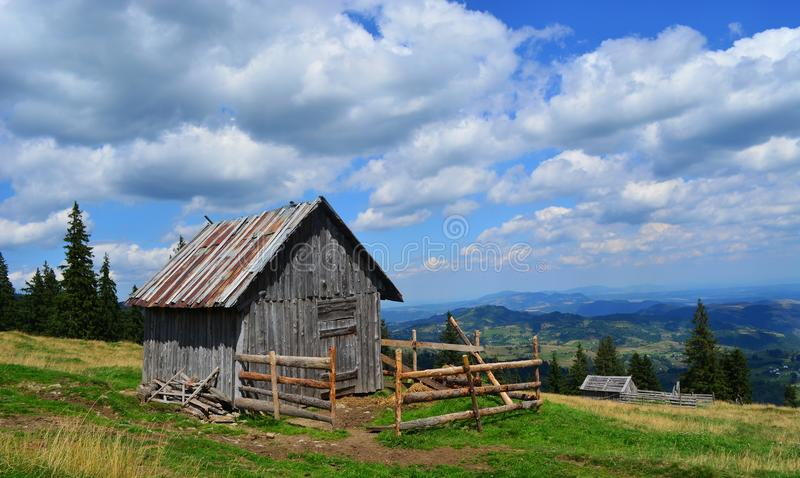 Small Cabin on Top of the Hill stock image