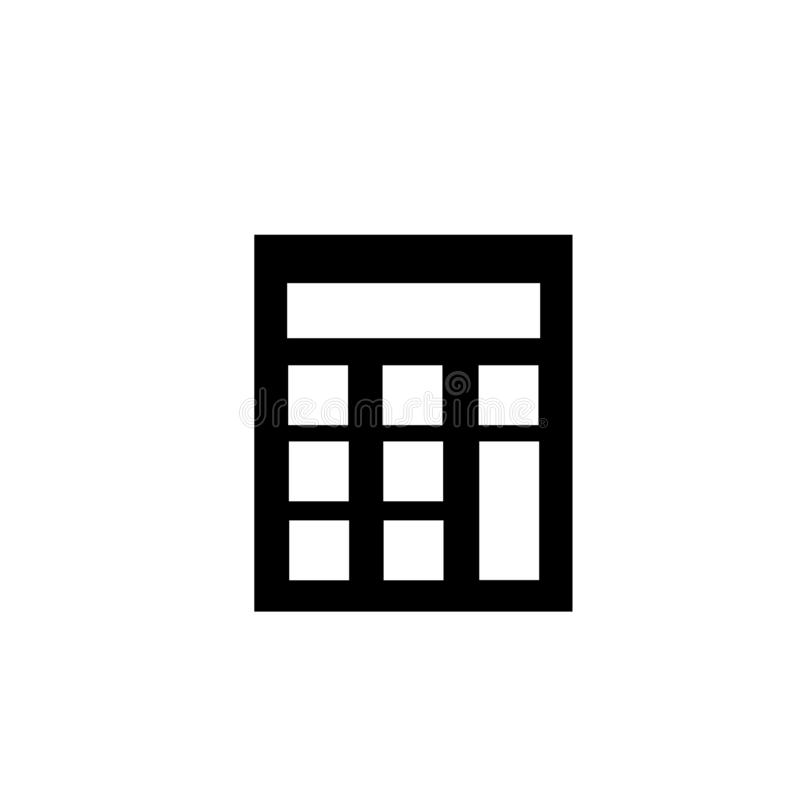 Small calculator icon vector sign and symbol isolated on white background, Small calculator logo concept. Small calculator icon vector isolated on white royalty free illustration