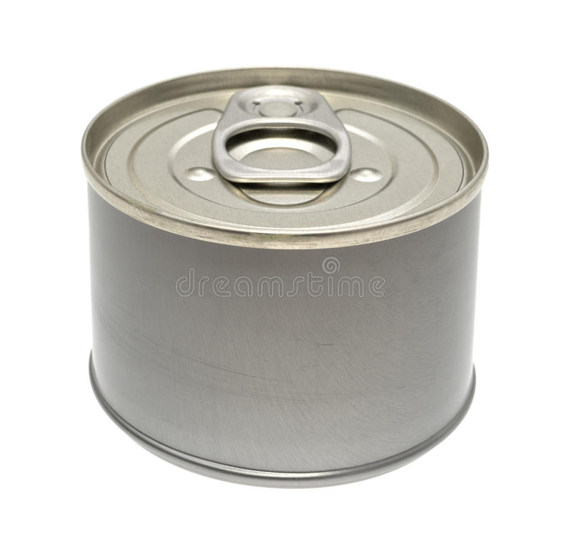 Free Small Can Of Food On A White Background. Royalty Free Stock Image - 78679126