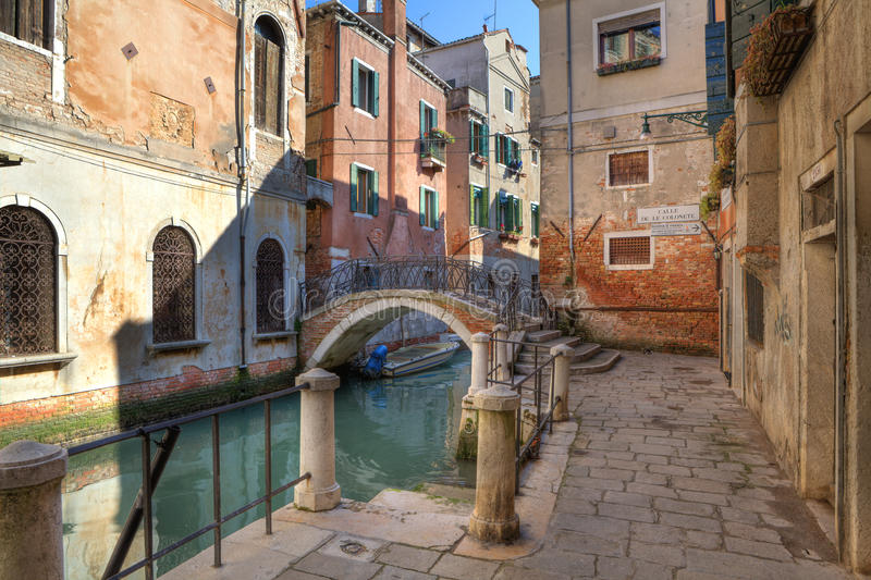 Download Small Canal And Old House In Venice, Italy. Stock Photos - Image: 18703883