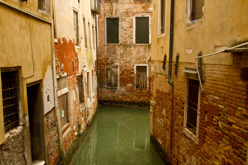 Small canal and venetian architecture stock photos