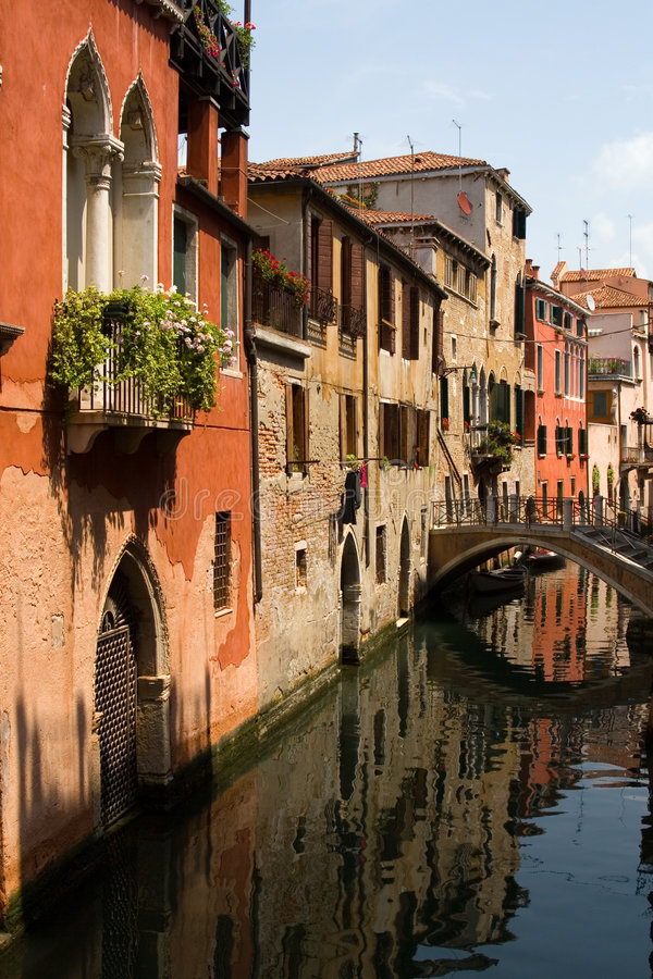 Small canal in Venice stock photos