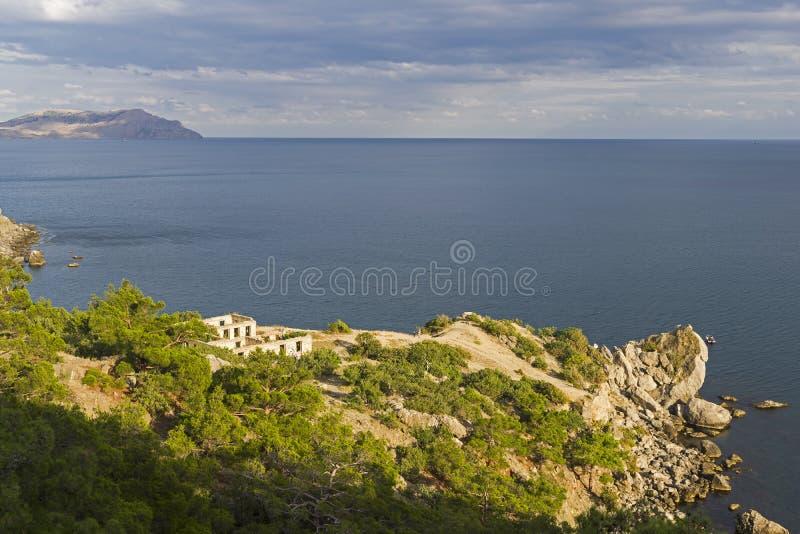 A small cape on the Black Sea coast. stock photography