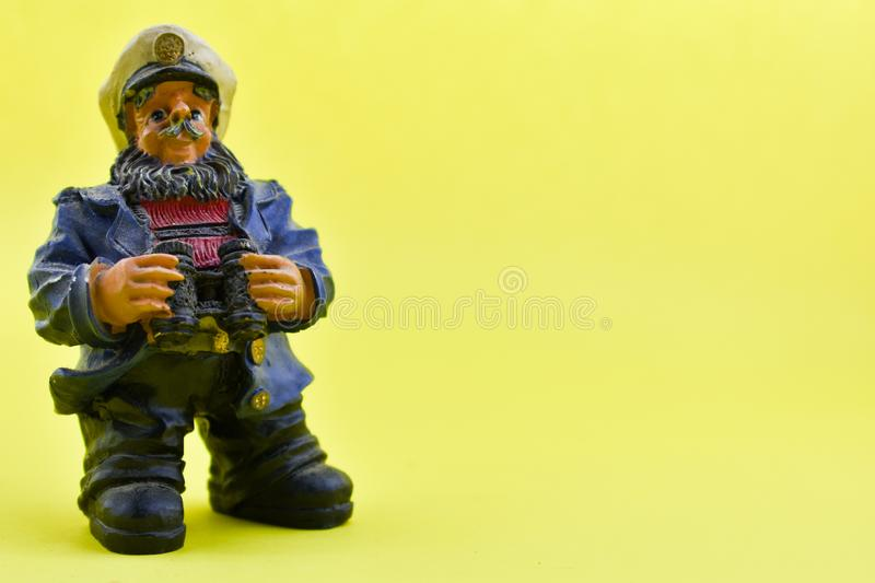 Small, captain statue stock photography