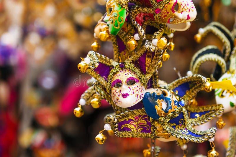 Small carnival masks royalty free stock photos