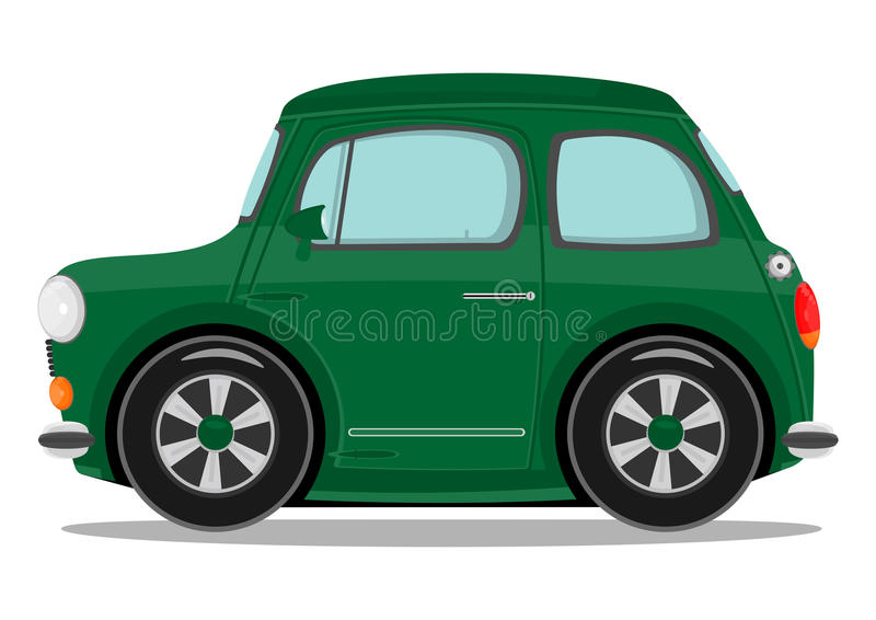 Small cartoon car royalty free illustration