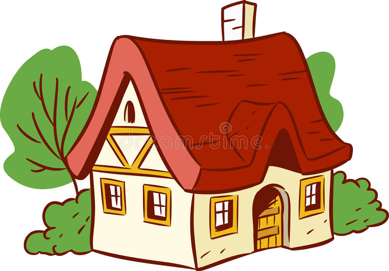 small cartoon house stock vector illustration of roof 32716294 rh dreamstime com cartoon house images free download cartoon house images to draw
