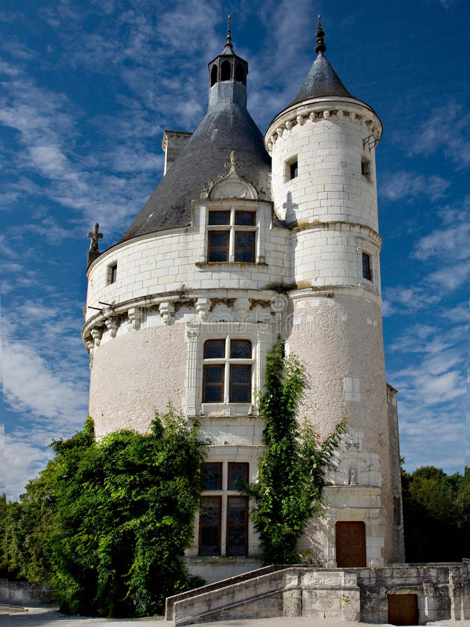 Small castle chenonceau france stock image image of for Small chateau