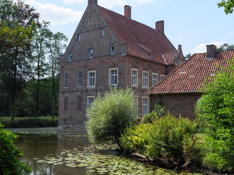 The castle of welbergen in germany. The small Castle of welbergen in the german muensterland stock photography