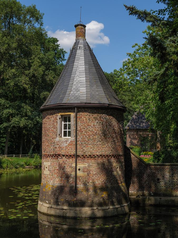 The castle of welbergen in germany. The small Castle of welbergen in the german muensterland royalty free stock photos
