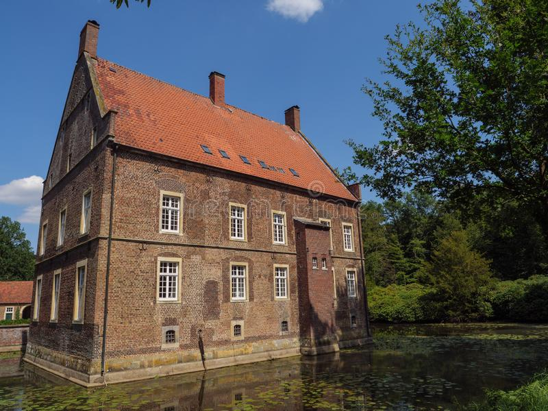 The castle of welbergen in germany. The small Castle of welbergen in the german muensterland stock images
