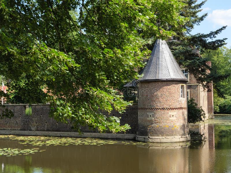 The castle of welbergen in germany. The small Castle of welbergen in the german muensterland stock photo