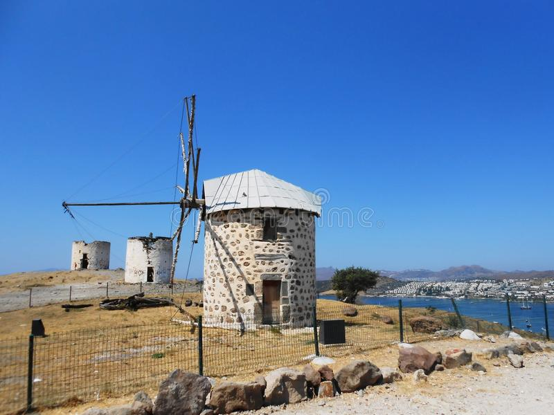 Small castles in Bodrum royalty free stock photo
