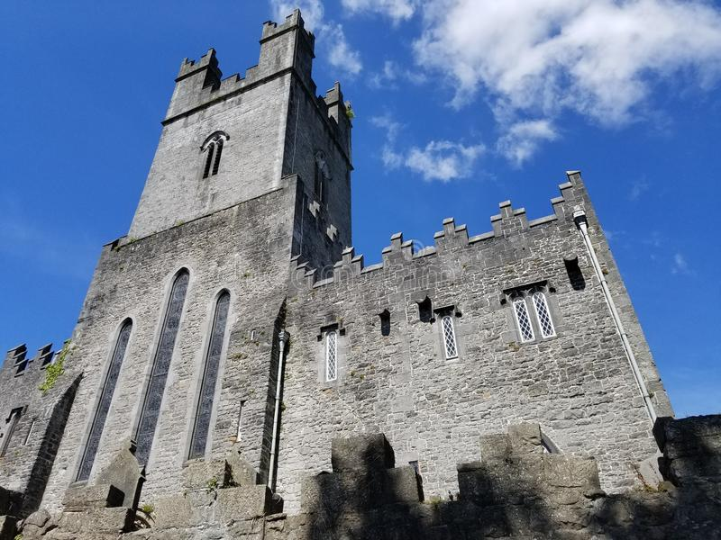 Small Cathedral in Nenagh, Ireland. A small cathedral with old walls in Nenagh, County Tipperary, Ireland in June stock photography
