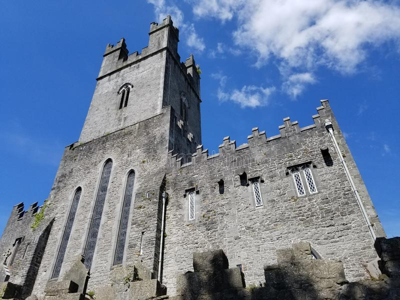 Small Cathedral in Nenagh, Ireland. A small cathedral with old walls in Nenagh, County Tipperary, Ireland in June royalty free stock images