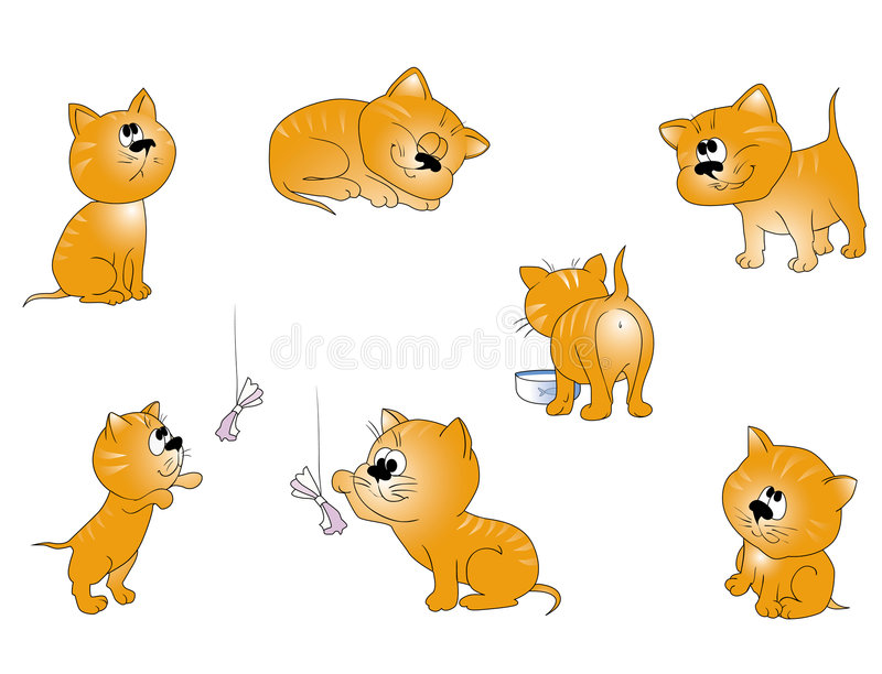 Download Small cats collection stock vector. Image of colorful - 8476092