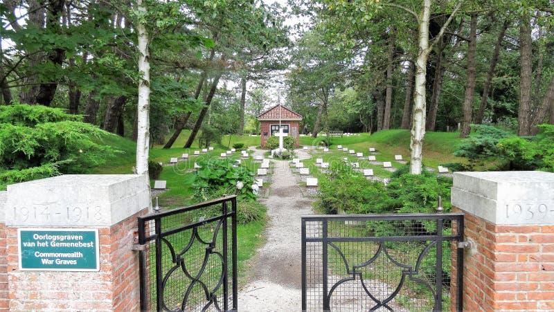 Cemetery Schiermonnikoog stock image
