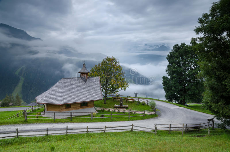 Small chapel above Zell am See 1, Austria stock photos