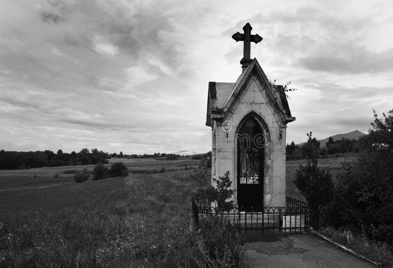 Small chapel on the countryside stock image