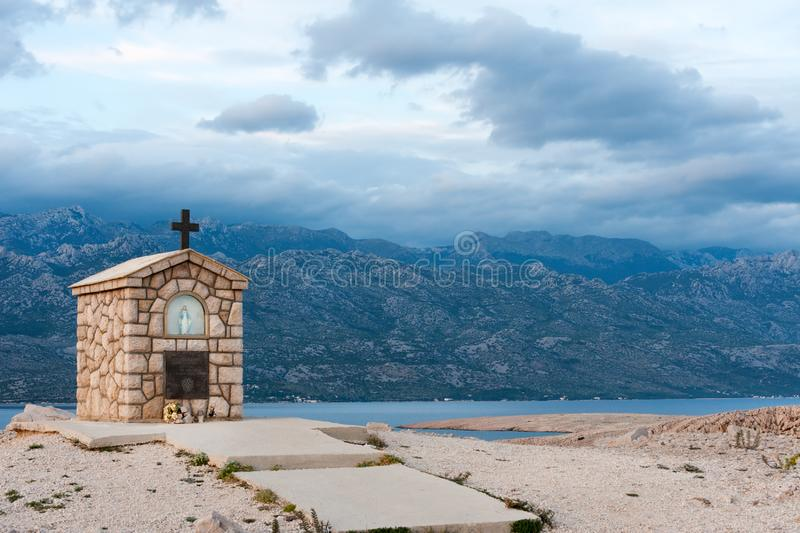 Pag island scenery royalty free stock image