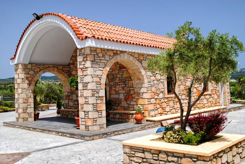 Small chapel in the backyard royalty free stock photo