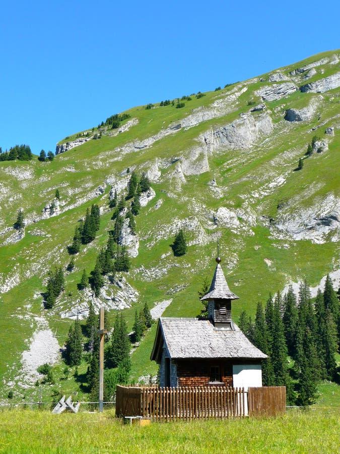 Small chapel in an idyllic scenery stock photos
