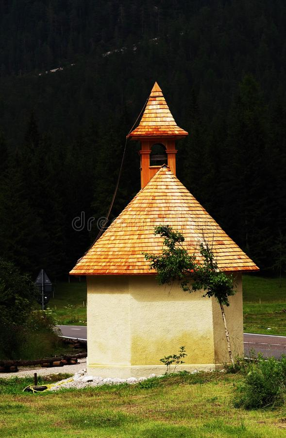 Small chapel on the roadside. royalty free stock photography