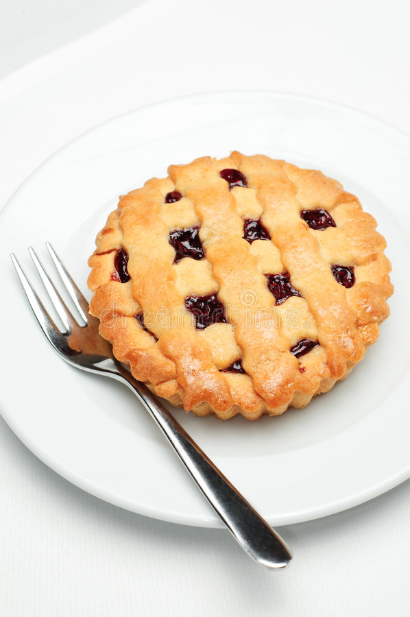Small cherry pie royalty free stock image