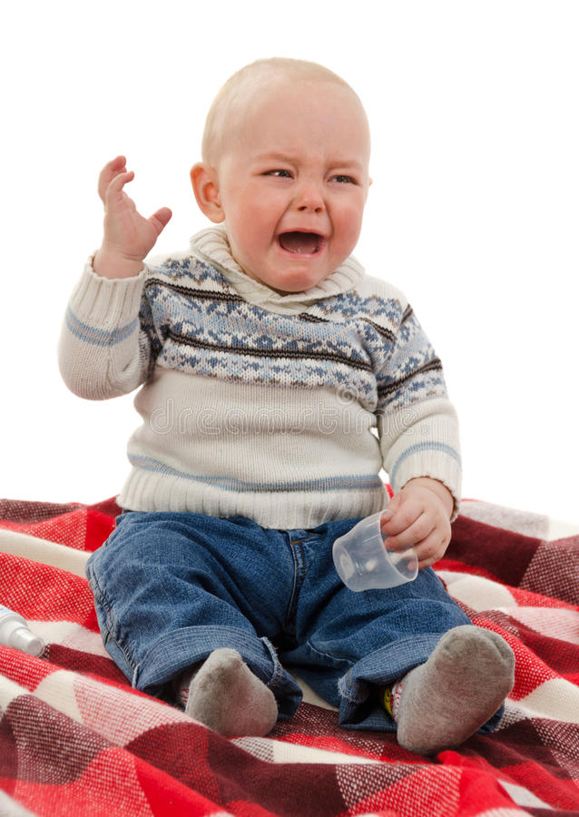 Download The small child cries stock image. Image of disappointment - 24381999