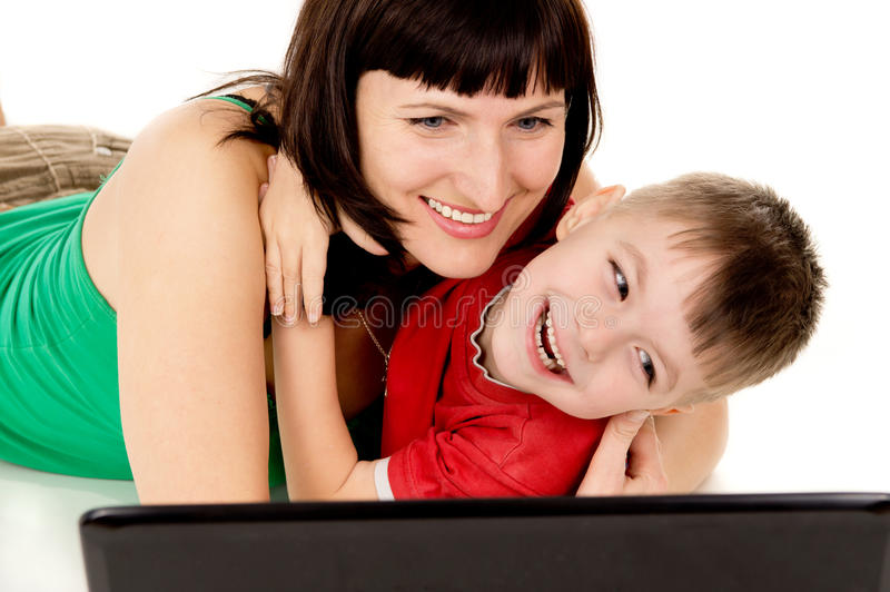 Download A Small Child With Her Mother Watch The Movie The Notebook Stock Photo - Image: 28769640