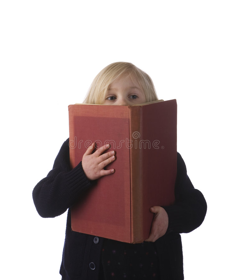 Free Small Child With Large Book Royalty Free Stock Photography - 8483657