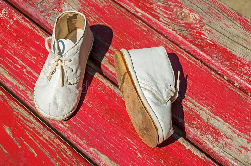 Childrens footwear royalty free stock photos