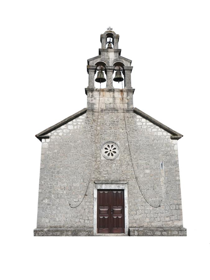 Free Small Christian Church Bright Stone Chapel Front View Isolated Stock Image - 156482411