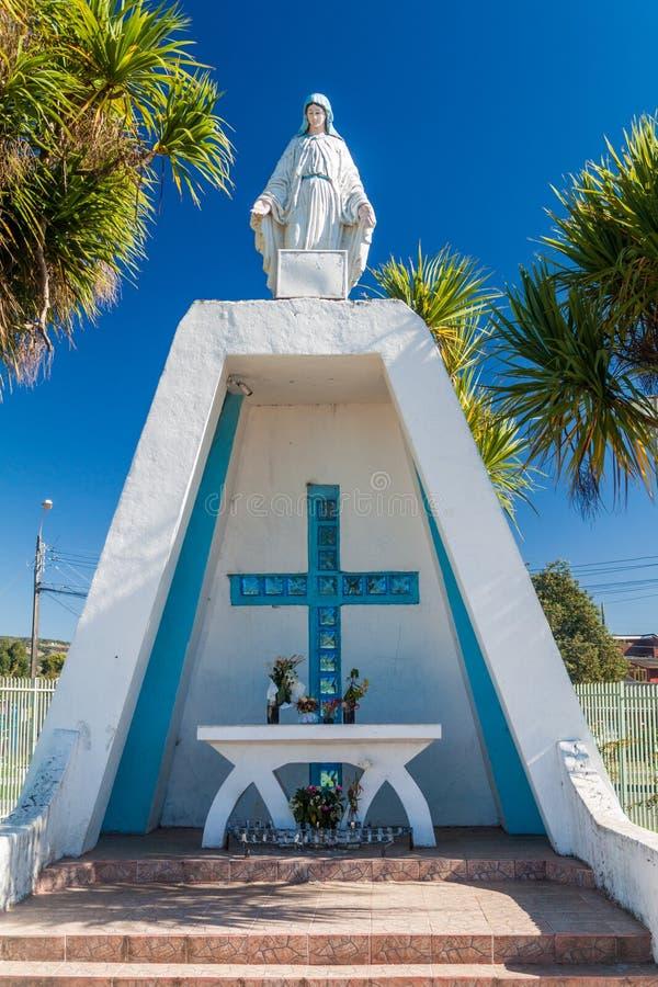 Small christian shrine in Castro, Chiloe island, Chi. Le royalty free stock photos