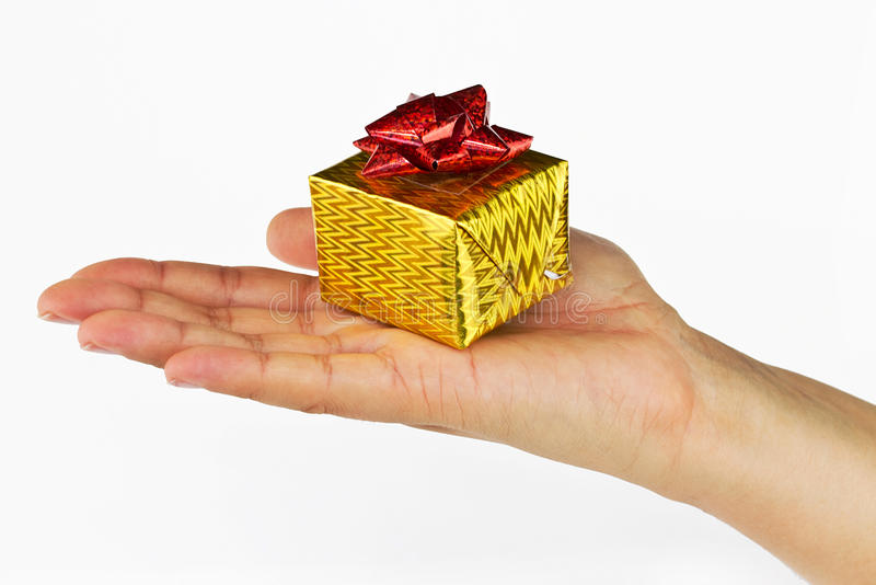 Download Small christmas gift stock photo. Image of showing, shot - 16642398