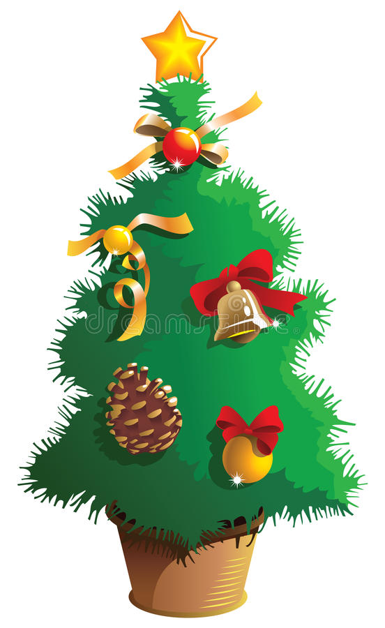 Download Small Christmas tree stock vector. Image of merry, small - 11837530