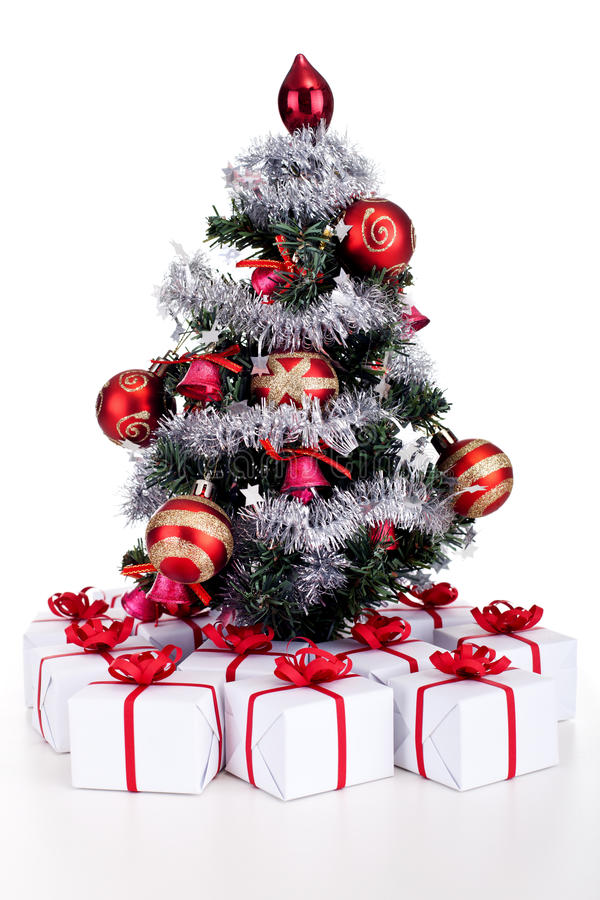 download small christmas tree with lots of presents royalty free stock image image 35477556 - Small Christmas Tree