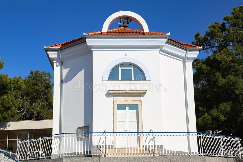 A small church in a Croatian village stock images