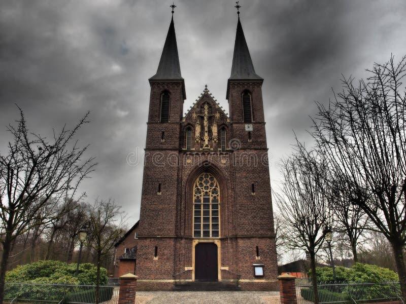 Small church in germany. A small church in germany royalty free stock image