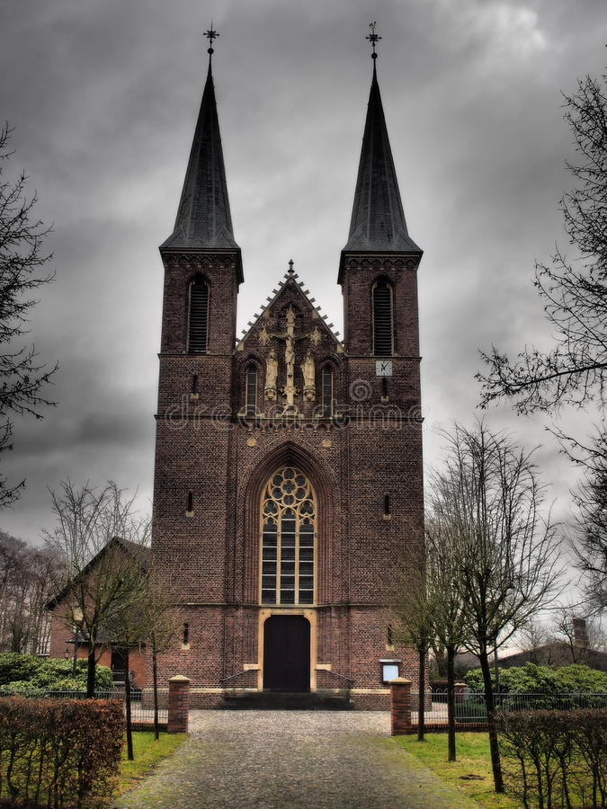 Small church in germany. A small church in germany royalty free stock photos