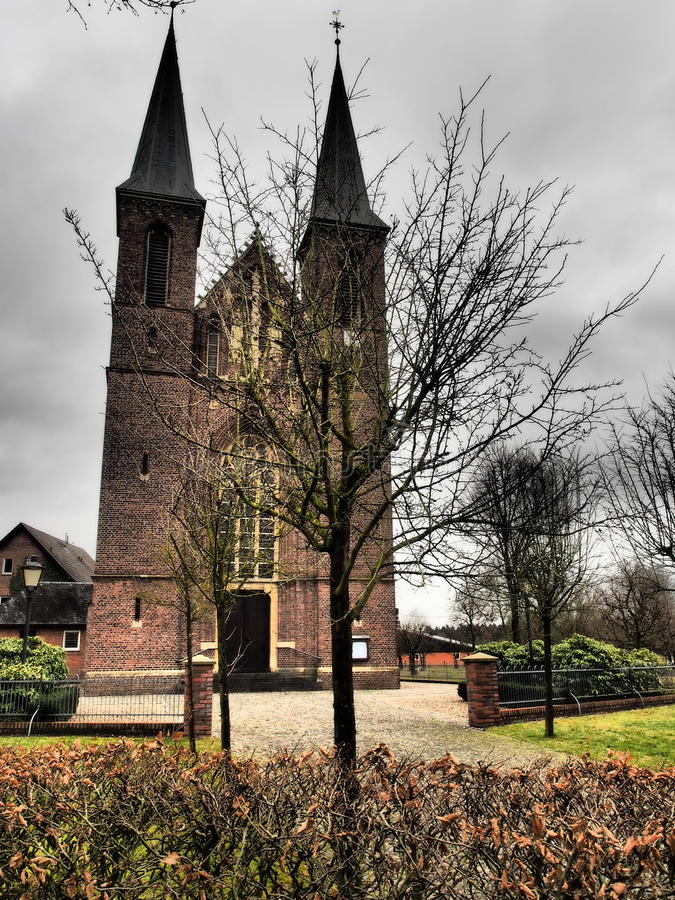 Small church in germany. A small church in germany royalty free stock photo