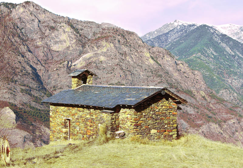 Download Small Church High Up In The Mountains Stock Image - Image: 39300237