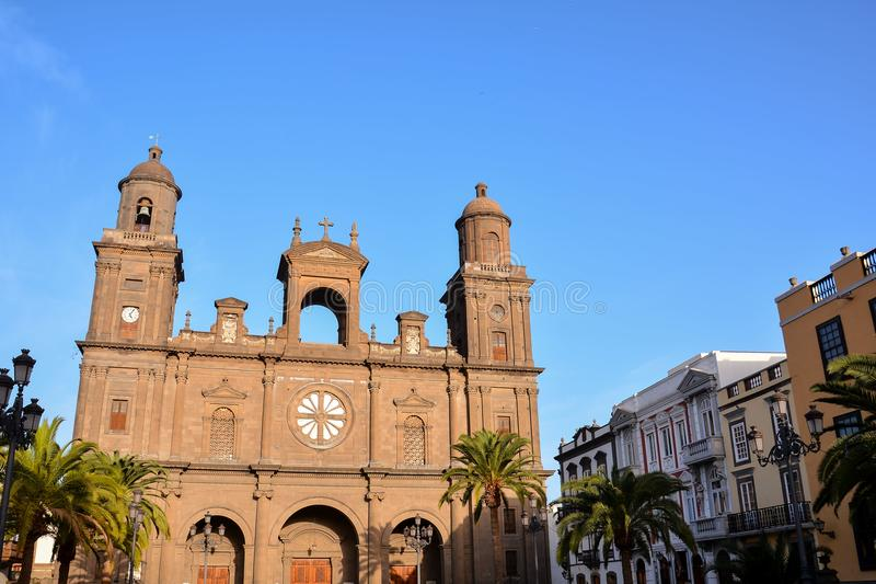 Small Church in Las Palmas Spain. Photo Picture of a Small Church Las Palmas in Spain royalty free stock photography