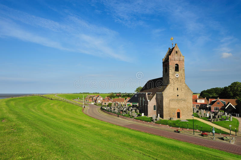 Download Small Church In A Little Village Called Wierum Stock Image - Image: 10542073