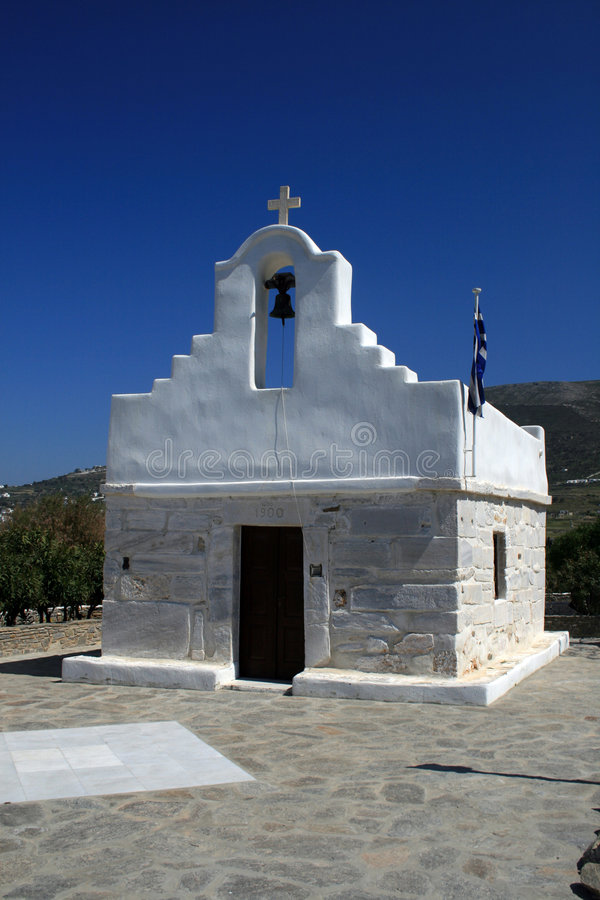 Small church - Paros royalty free stock photo