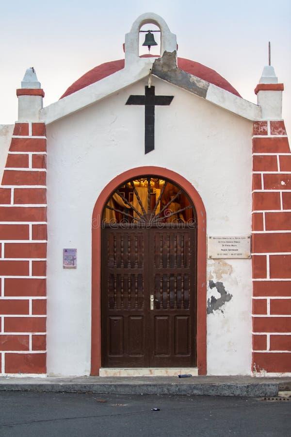 Small church in Puerto de la Cruz, Tenerife. Typical church in Puerto de la Cruz town on coast of Tenerife, Canary Islands, Spain royalty free stock photography