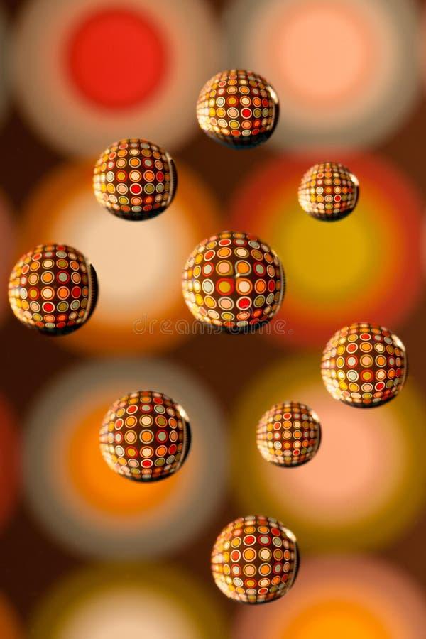 Small Circles In Front Of Big Circles Stock Photo